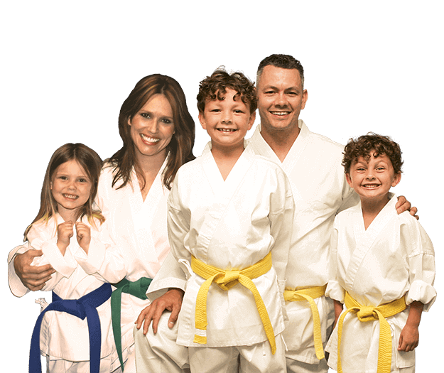 Martial Arts Lessons for Families in King George VA - Group Family for Martial Arts Footer Banner