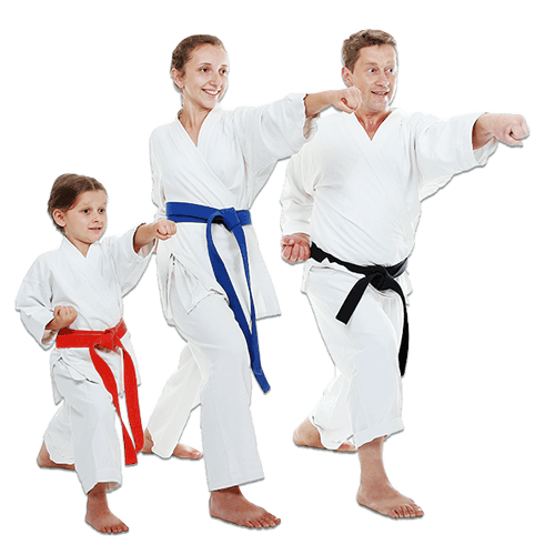Martial Arts Lessons for Families in King George VA - Man and Daughters Family Punching Together
