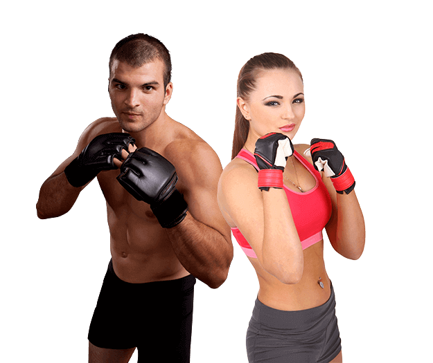 Mixed Martial Arts Lessons for Adults in King George VA - Hands up Fitness MMA Man and Woman Footer Banner