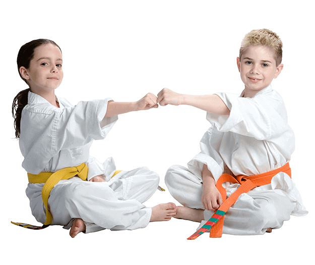 Martial Arts Lessons for Kids in King George VA - Kids Greeting Happy Footer Banner